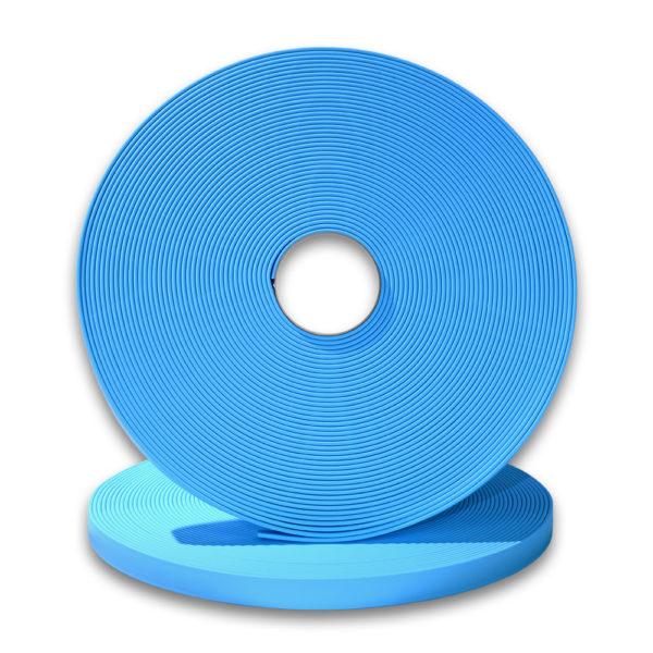 longe biothane bleu clair 9mm