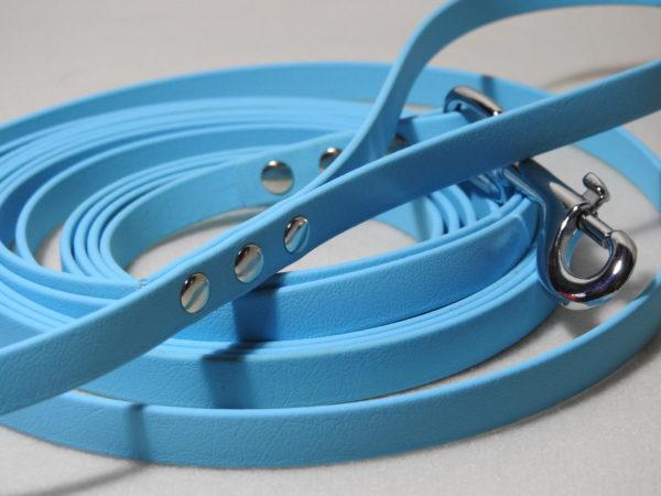 longe biothane bleu