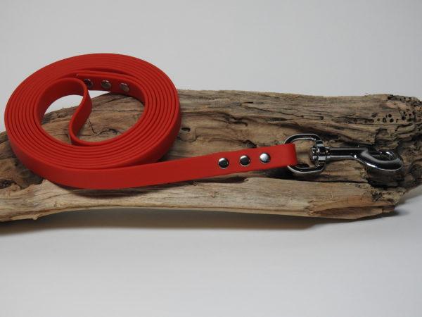 longe biothane rouge 16mm