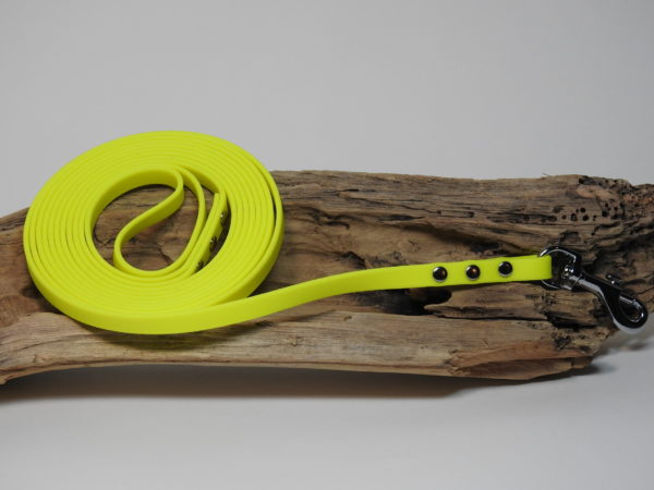 longe biothane jaune 12mm