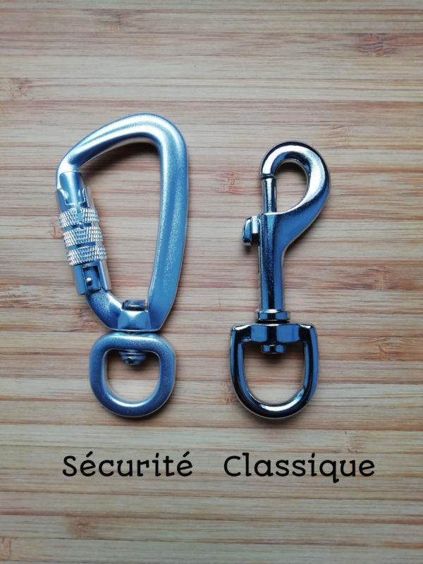 mousqueton securité ou classique 80mm