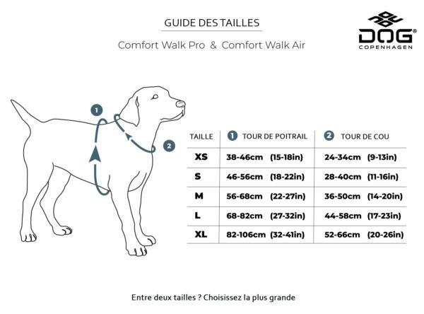 guide de tailles des harnais dog copenhagen comfort walk air